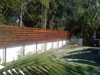 Custom 1x6 Ipe horizontal fence | by WoodFenceExpert.com