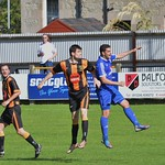 Sean Webb & Martin Charlesworth contest a high ball