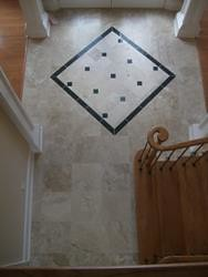 Porcelain tile with granite design