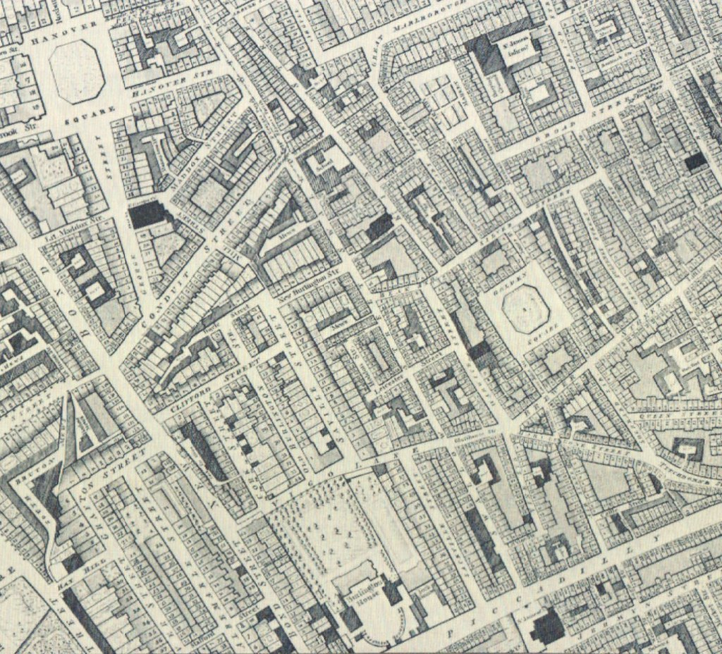 Street Map London West End.London West End 1792 Map From A History Of Regent Stre Flickr