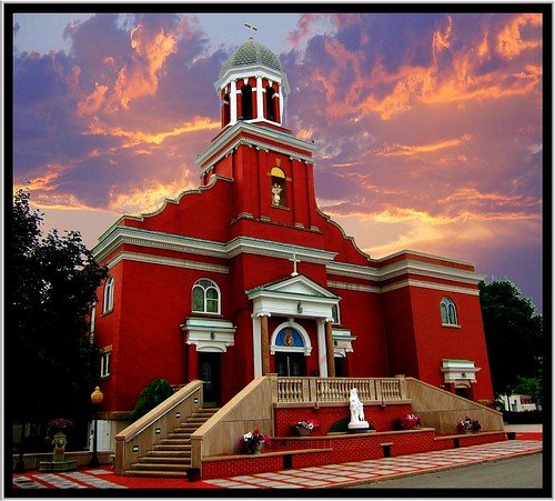 our sunset ohio sky church architecture lady clouds italian catholic religion mount carmel oh baroque youngstown hictoric nrhp mahoningcounty onasill