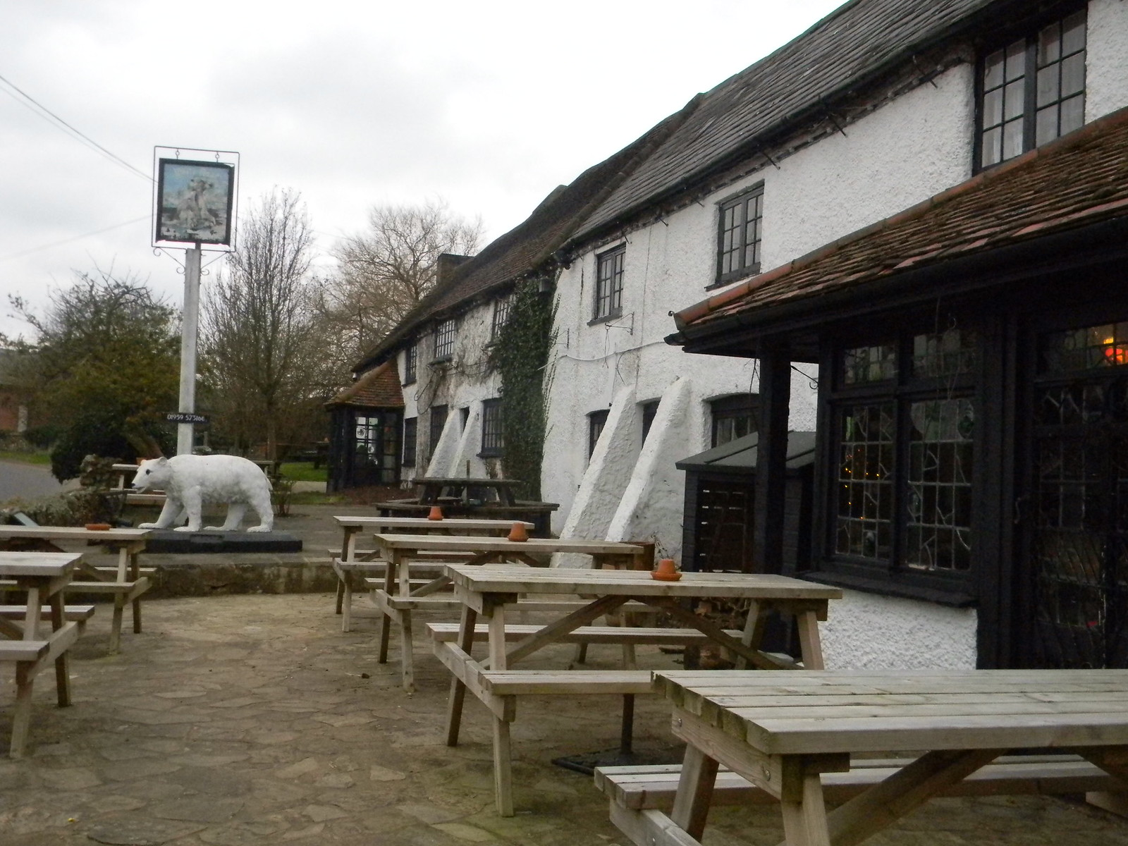 Polar Bear See how it has emptied the beer garden. Whyteleaf to Hayes
