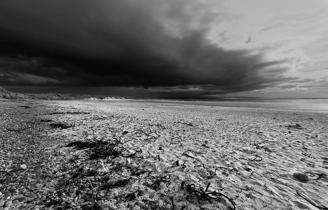 Dunnet Bay storm clouds
