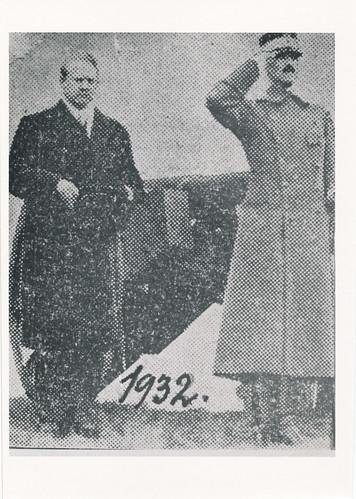Vidkun Quisling og Kong Haakon, 1932.