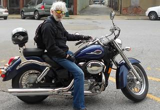 Fred on the bike