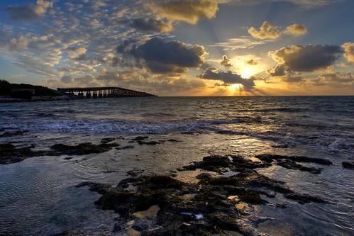 seascape sunrise landscape coast florida marathon horizon keywest hdr floridakeys sevenmilebridge photomatix knightskey