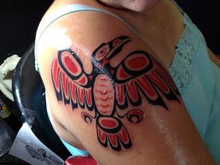 Haida Tattoo Raven Northwest Native American Tattoo Flickr