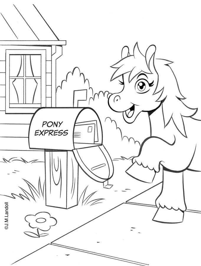 "Landoll Publishing Company :: ""PONIES"" Coloring & Activity Book; Mail box  (( 2013 )) by tOkKa"