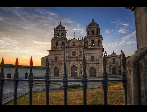 peru church sunrise cajamarca