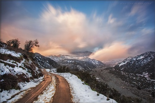road longexposure snow mountains clouds landscape hills southerncalifornia banning inlandempire sangorgonio ndx00