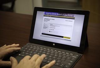 Virginia Ballot on Microsoft Surface Pro Tablet | by IntelFreePress