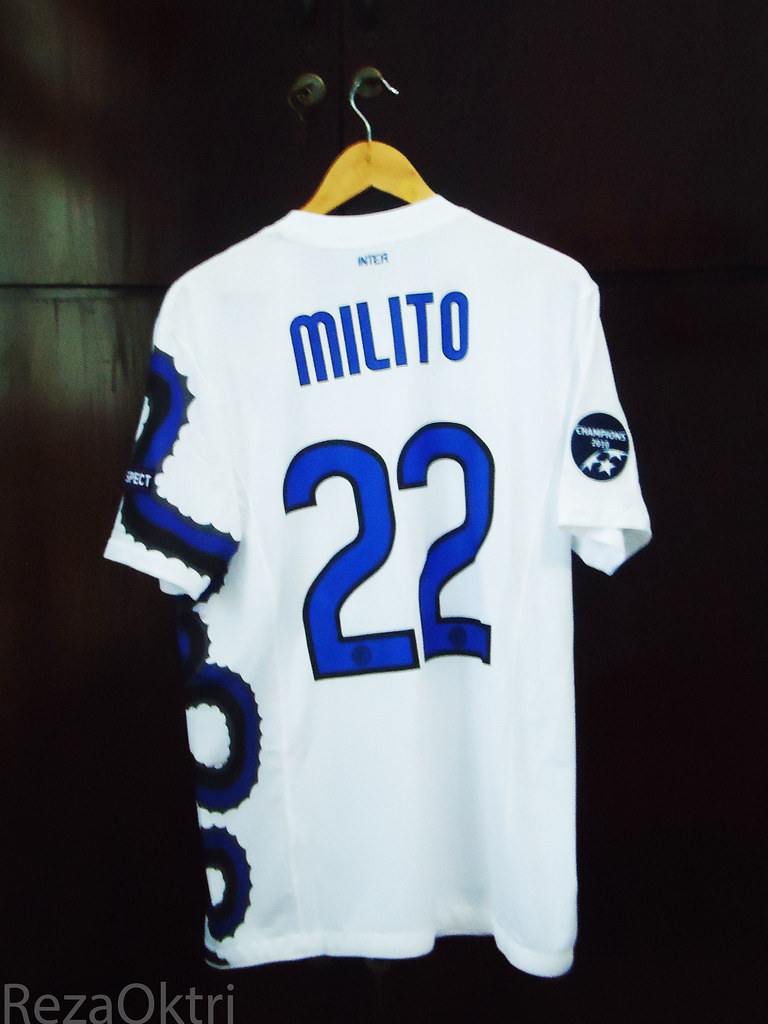 Inter Milan Away 2010 11 Ucl Milito Full Patch Flickr