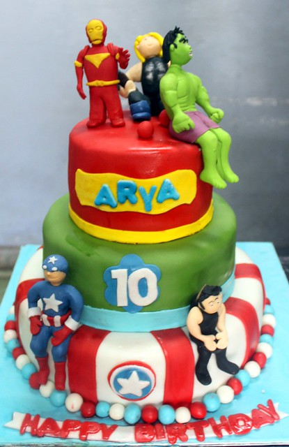 Avenger Sugarcrafted Cake