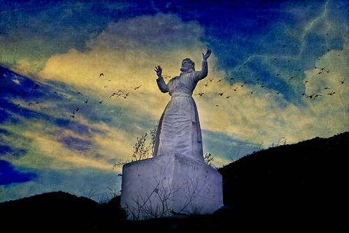sunset texture statue easter yuccavalley christpark sliderssunday