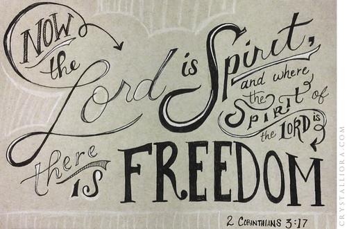 2 Corinthians 3:17   by crystalliora ✦ vesper704