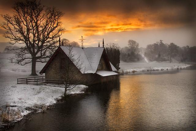 snowy carton sunrise