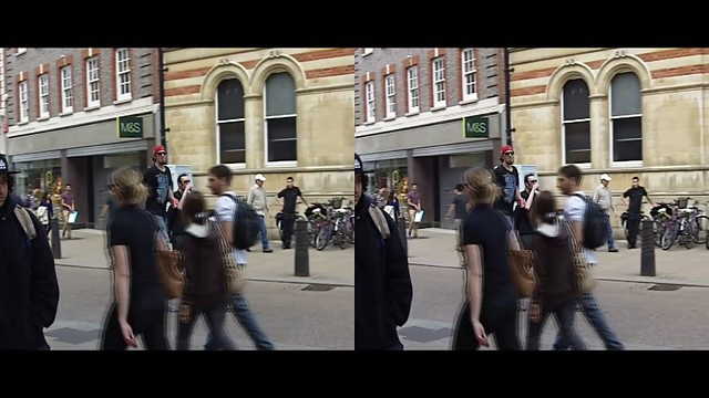 stilts - 3d movie clip - 3d crossview