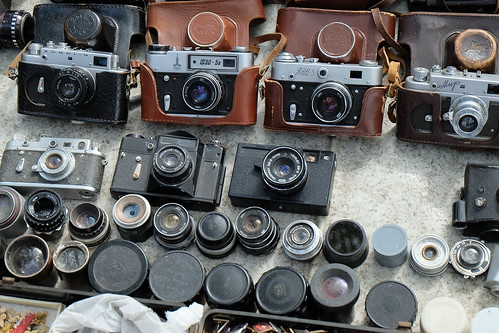 Ancient Zenit film cameras- that's quite a spread! | by shankar s.