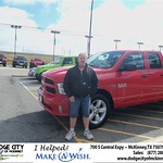 Congratulations to Jimmy Holt on the 2013 Dodge Ram