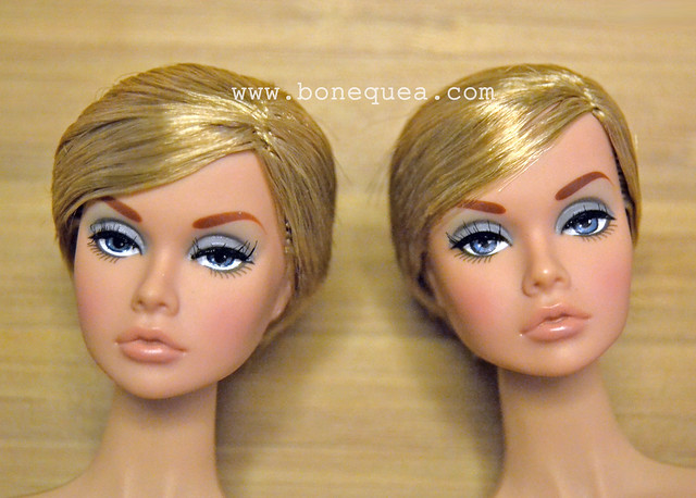 Poppy Parker: eye enhancement. Before and after.