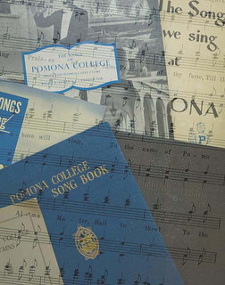 Images of traditional Pomona College songbooks