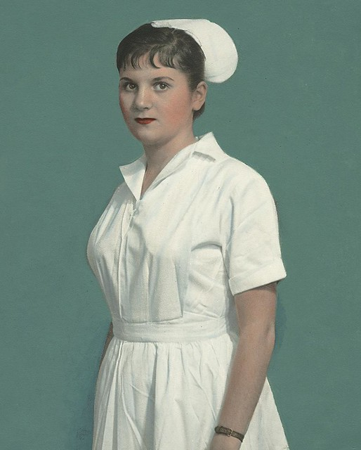 Nurse wearing uniform from Medeira
