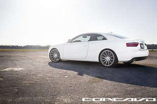 Audi A5 on 20x10.5 CW-12 Matte Grey Machined Face | by Concavo Wheels