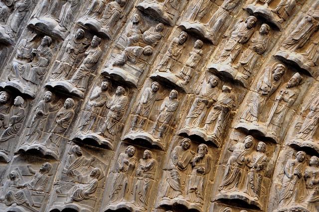 237 - Detalle Portada Juicio - Bienaventurados - Catedral Santa María - Tudela (Navarra) - Spain.