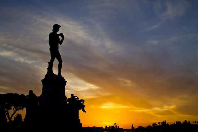 Tramonto con il David   /  Sunset with David