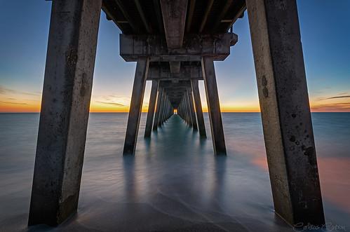 longexposure venice sunset copyright beach nature landscape pier nikon florida sigma magichour d7000 carloscintron