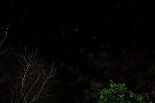 Hyades, Pleiades, and Jupiter