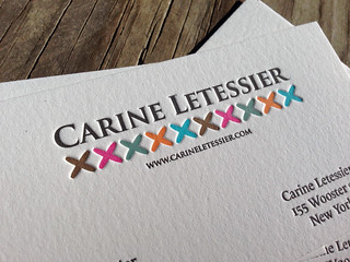 Six Color Letterpress Business Card | by dolcepress