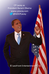 1.  CP Lacey as Pres Barack Obama