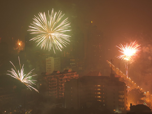 Fireworks, Former French Concession, Shanghai