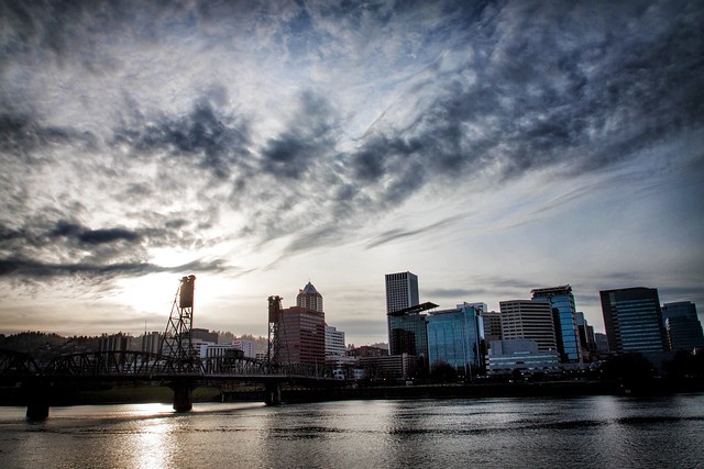 Portland Downtown Sunset - Sun 2/24