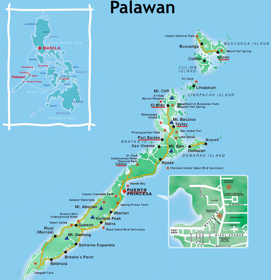 Palawan Map Tourist Perfecto Don Jr Gonzales Flickr