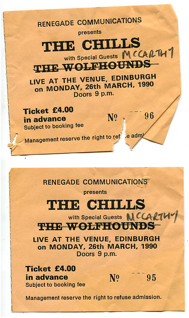 The Chills / McCarthy 26/03/90