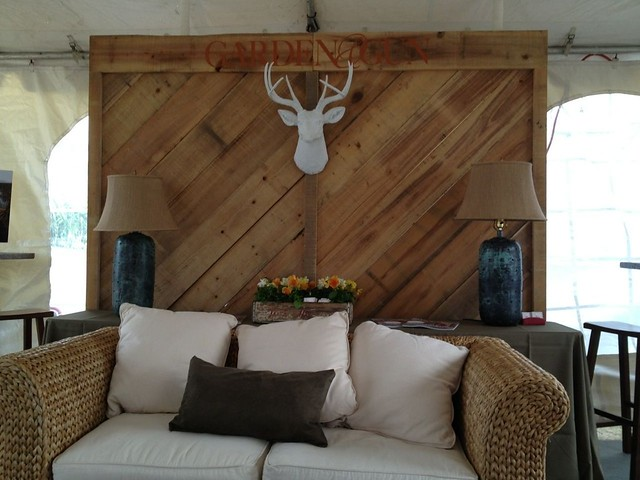 Rustic Wood Backdrop - SEWE 2013