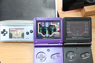 Game Boy Advance SP backlit vs front-lit vs Micro | by Matt Gemmell