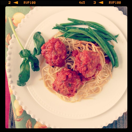 Garden Turkey Meatballs | by mealmakeovermoms