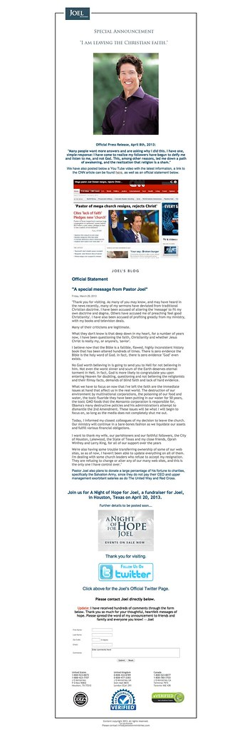 Joel Osteen Ministries -- Official Site of Pastor Joel Ost… | Flickr