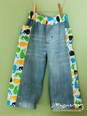 Treasure Pocket Pants - whales