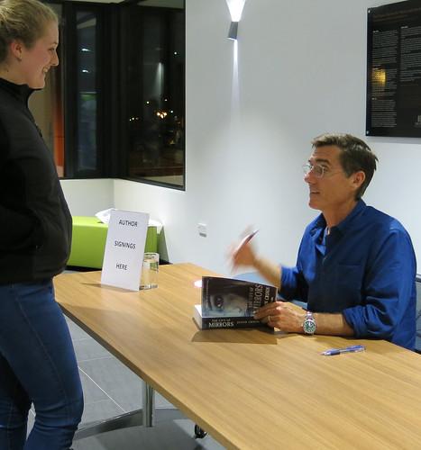 Justin Cronin signing books