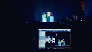 Taking a projection mapping class at Harvestworks.  This is my first masterpiece. | by meowzas