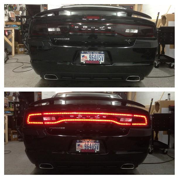 Lamin-x tail light tint on a Dodge Charger  #tintstar #dod