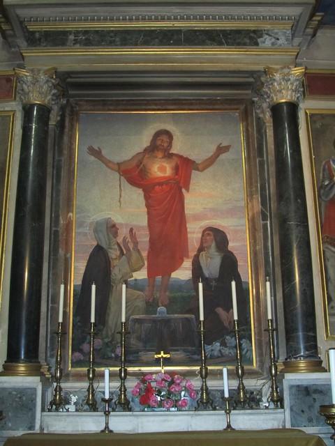 2012 S. Maria sopra Minerva c, Cappella del S. Cuore b, Cristo tra S. Caterina da Siena e S. Maria Alacoque di C. Mezzana 1922