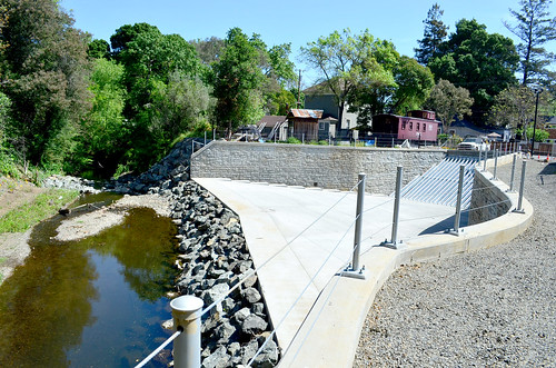 New pedestrian bridge last major phase of Corps' Napa Creek project