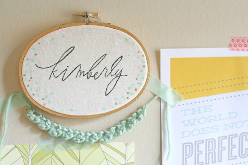 DIY faux calligraphy hoop | yourwishcake.com | by wishcake
