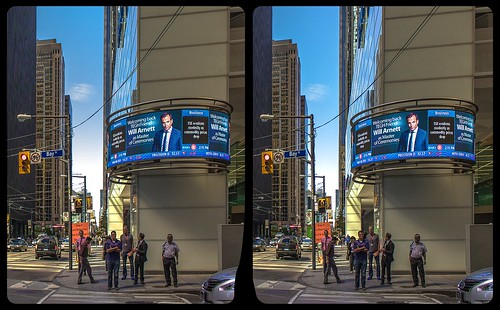 Uncomfortable businessmen 3-D / CrossEye / Stereoscopy / HDRaw