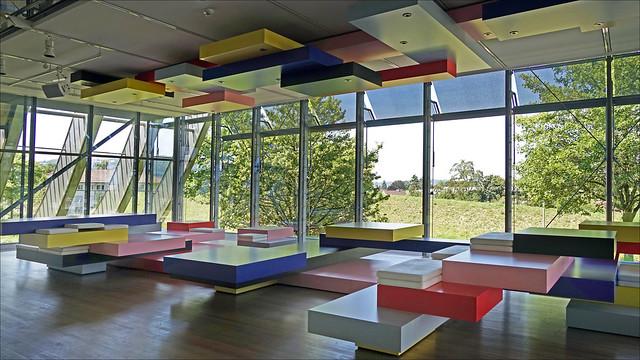 L'espace d'étude pour les visiteurs du Centre Paul Klee (Berne, Suisse)
